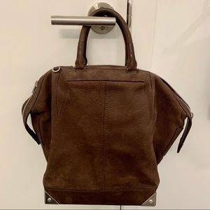 Alexander Wang Suede Large Emile Tote Espresso